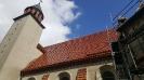Remont dachu - kościół w Drobninie 2017 r.
